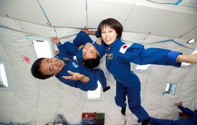 Japanese astronauts KIBO ISS