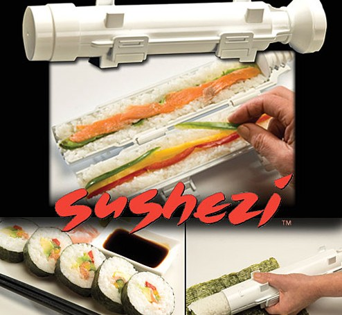 Use a sushi lightsaber for perfect rolls