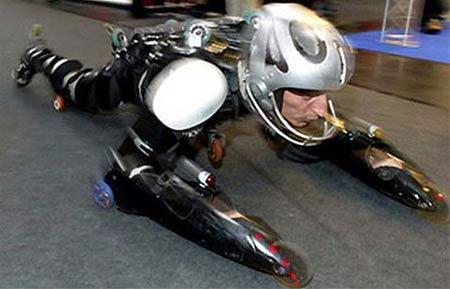 Human bobsled vs Motorcycle