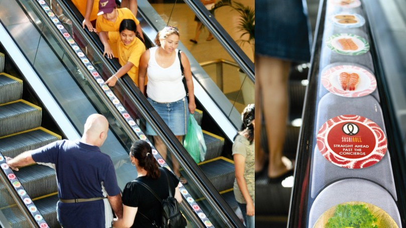 Sushi conveyor escalator