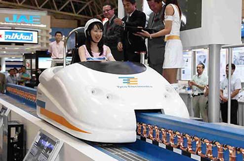 Single seater maglev coaster