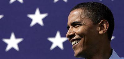 Barak Oama American Flag