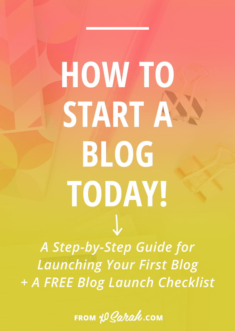 Attention Beginner Bloggers: Whether you're hoping to blog for fun or for profit, starting a blog doesn't have to be complicated and confusing. This 5 step tutorial will get you started TODAY! Plus I'm sharing my best blogging tips and tricks so you don't forget any of the important stuff.