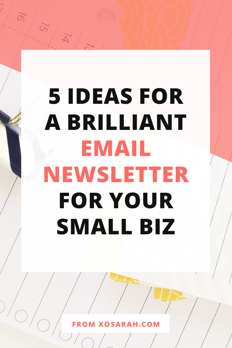 Hey solopreneur - Not sure what to send your subscribers? Here are 5 ideas for emails they'll actually open and read!