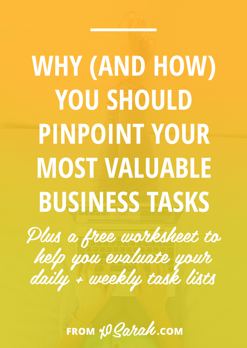 Hey Solopreneur - it's time to take a good hard look at that to-do list (and the to-done list) and make sure most things you do on a regular basis are moving you and your biz forward. Click to find out how!