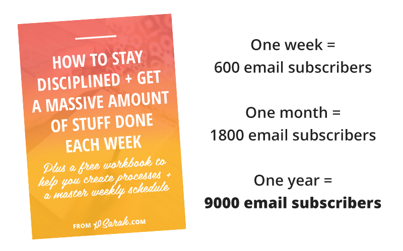 One pin netted me 9k email subscribers in just one year.