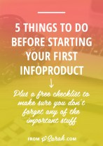 If next year is the year you're going to get into the infoproduct/passive income game then this post is for YOU. It's the perfect time to prep, learn, and get organized so when you jump into creating and launching your product nothing will get in your way. Here are five things to do before you get started . . .