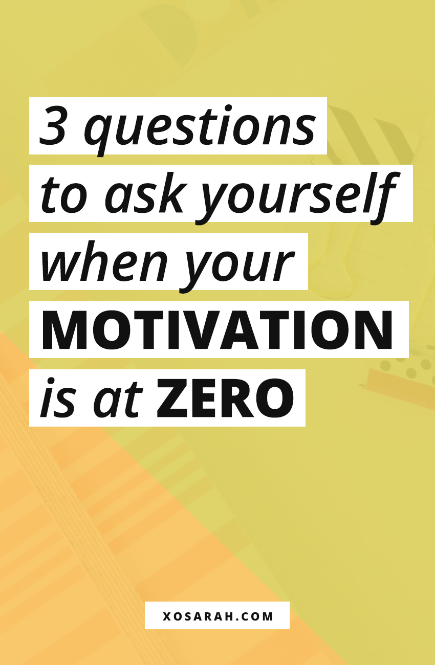 As creative entrepreneurs, freelancers, and business owners we sometimes have unproductive days when we have no motivation and just want to watch the entirety of Netflix. Here's a reminder for when you need to work but you have no motivation and no energy to do anything.