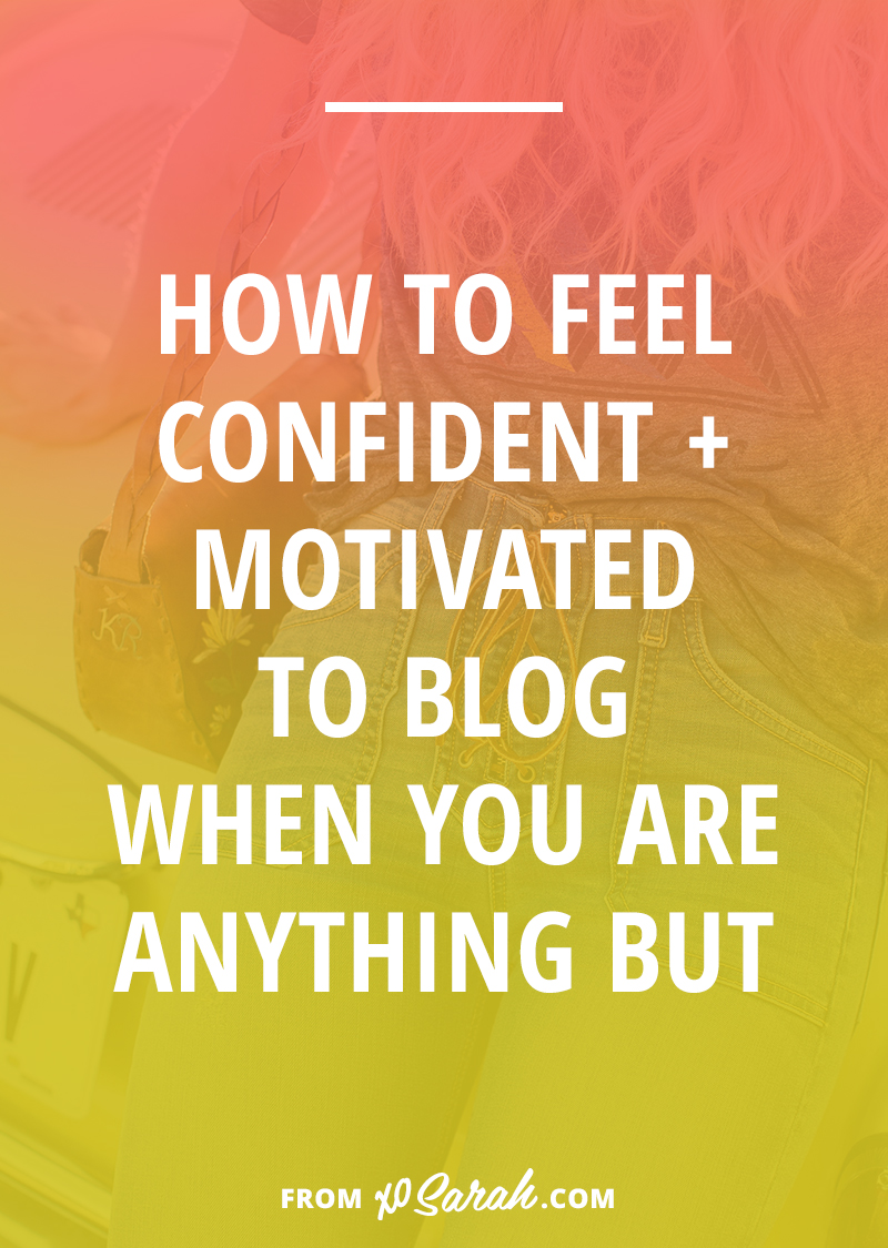 Hate to break it to ya, but hitting a certain blogging milestone doesn't guarantee that you'll suddenly be on your game, posting brilliant content consistently. Here are 5 tips that will help boost your confidence when your motivation to blog is nonexistent.