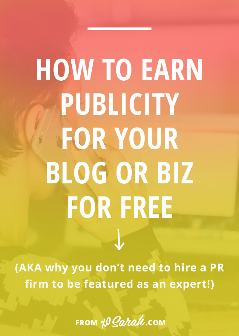 If you're already blogging and active on social media, you're halfway to earning yourself media exposure. And the good new is, you don't need to pay a PR firm to make it happen - you can absolutely do it yourself! Click for two ways to get started today!