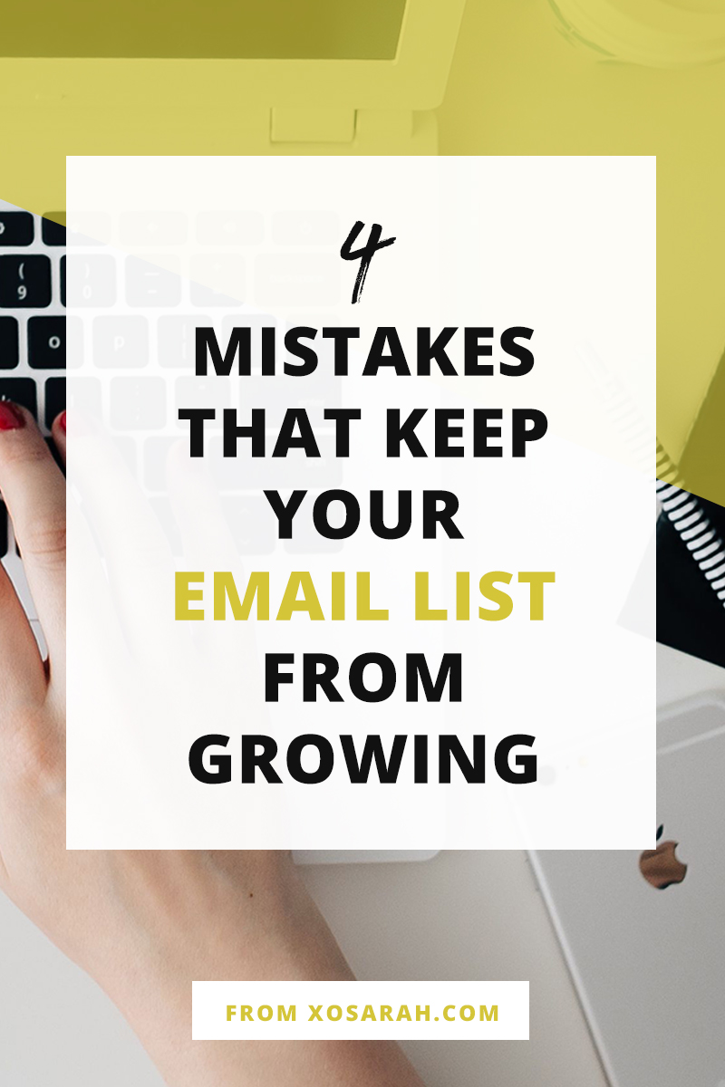 SO HELPFUL! If you've launched your email list but your growth strategies are falling flat, check out these 4 tips for what could be stopping your email marketing dead in its tracks.