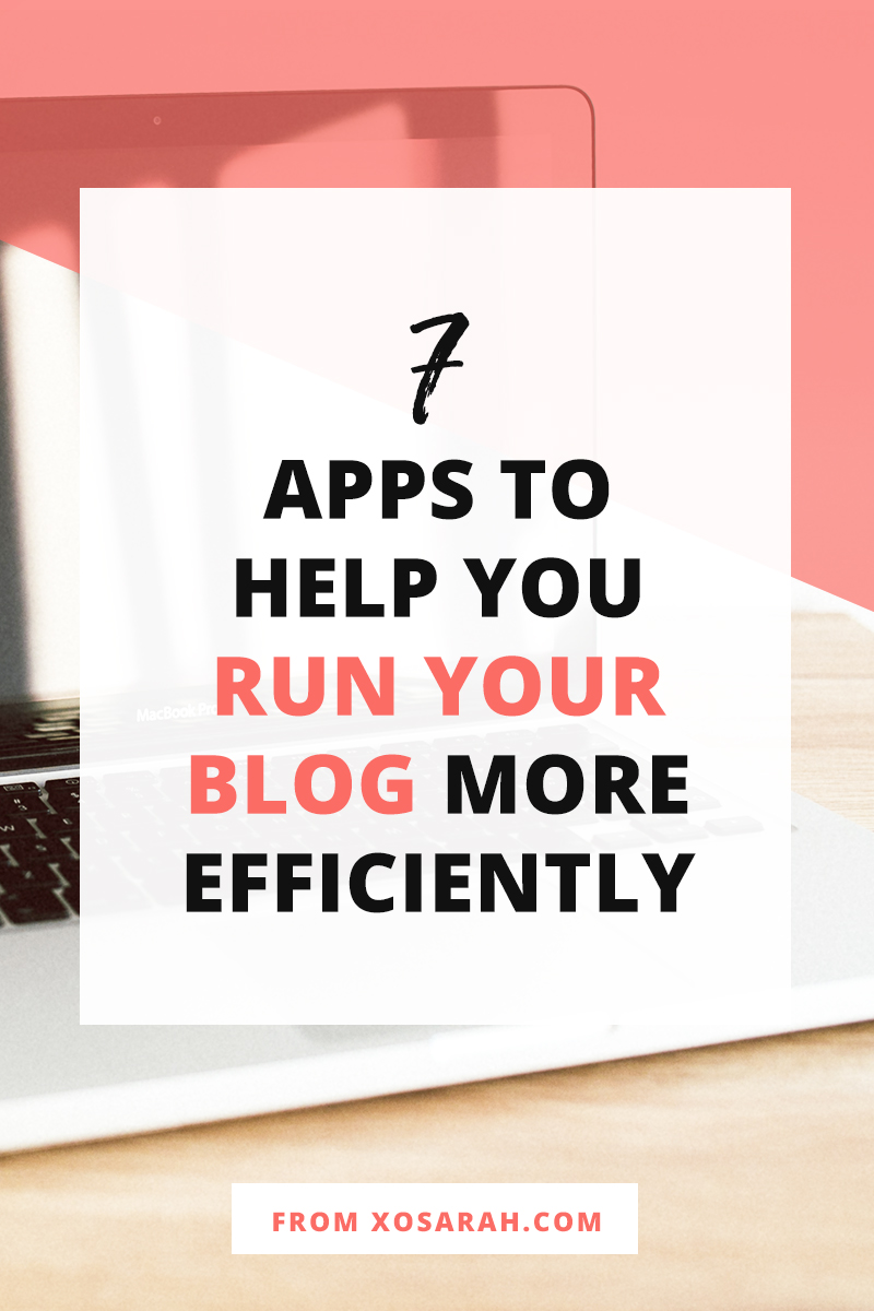 If you're serious about growing your blog it's important that the tasks that make it to the top of your to-do list are executed with speed and efficiency. Here are 7 of my favorite apps and how I use them to stay super productive and keep things running smoothly all week long.