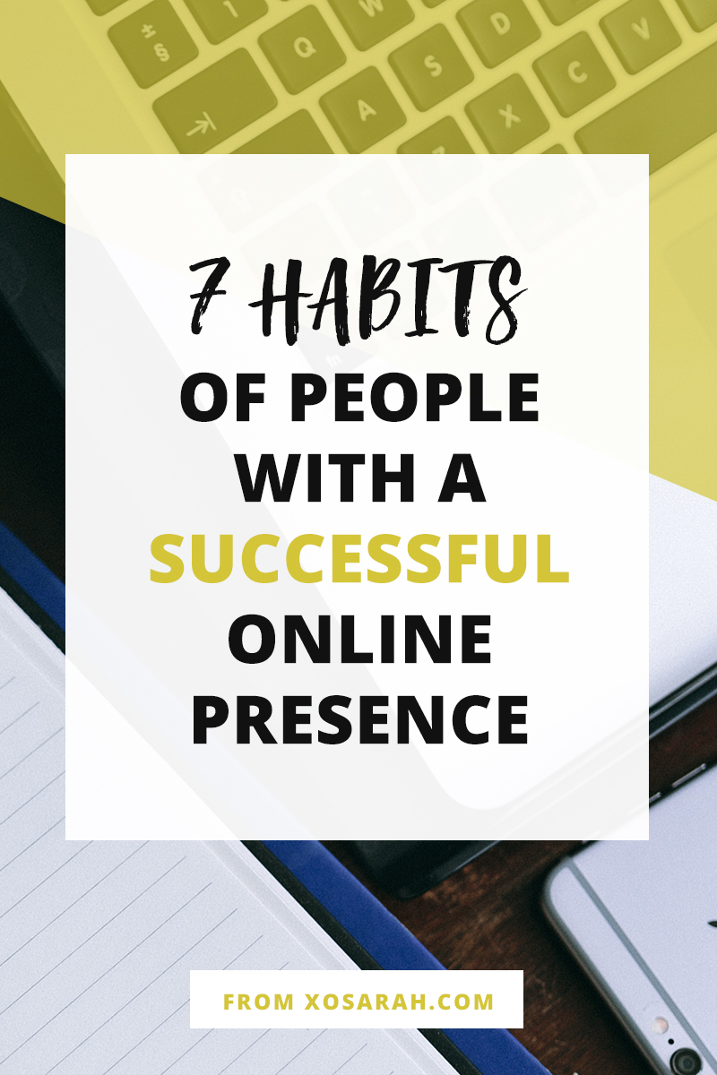 Is it just brilliant content, fantastic photos, hiring a virtual assistant, and spending 24/7 online, or is there something else that moves people in the direction of success? Click to learn 7 habits of bloggers + businesses owners who are rocking a successful online presence.