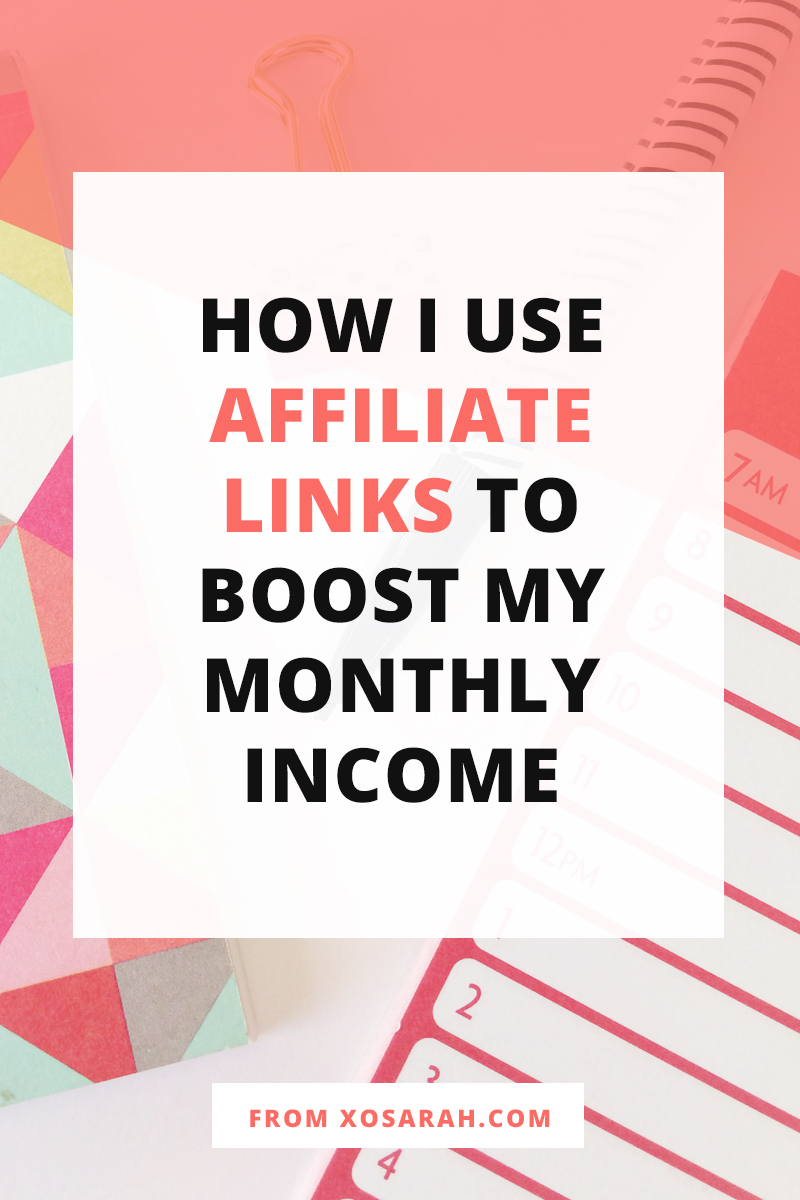 Sharing affiliate links on my blog has been one of the easiest ways to grow my monthly income because it can be as passive as I like! Here's how I've grown my income with affiliate linking over the past five years.