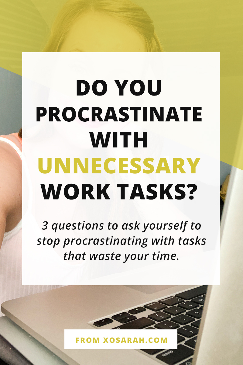 Hey solopreneur, Are you adding random items to your to-do list and procrastinating the day away? Here's how to get back on track and be more productive asap.