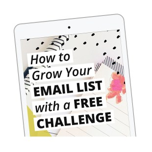 Grow your email list with a free challenge - ebook from XOSarah
