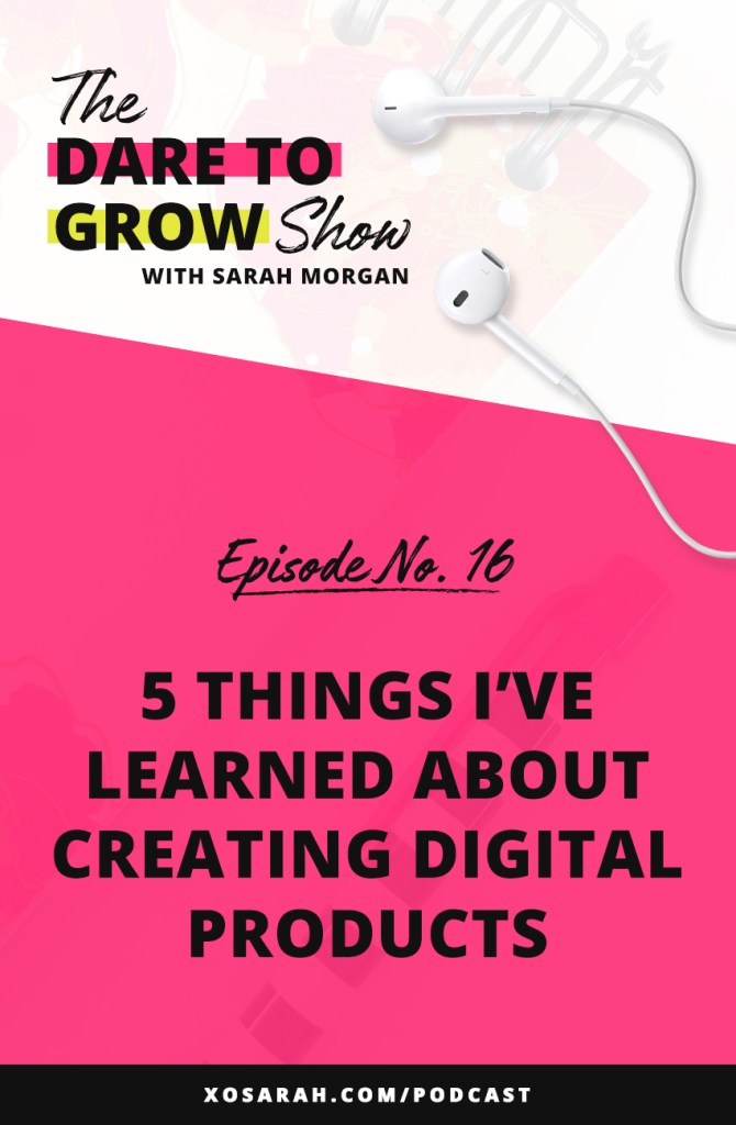 After creating 14 digital products, from ebooks to templates to online courses, here are the top 5 things I've learned about the product creation process.
