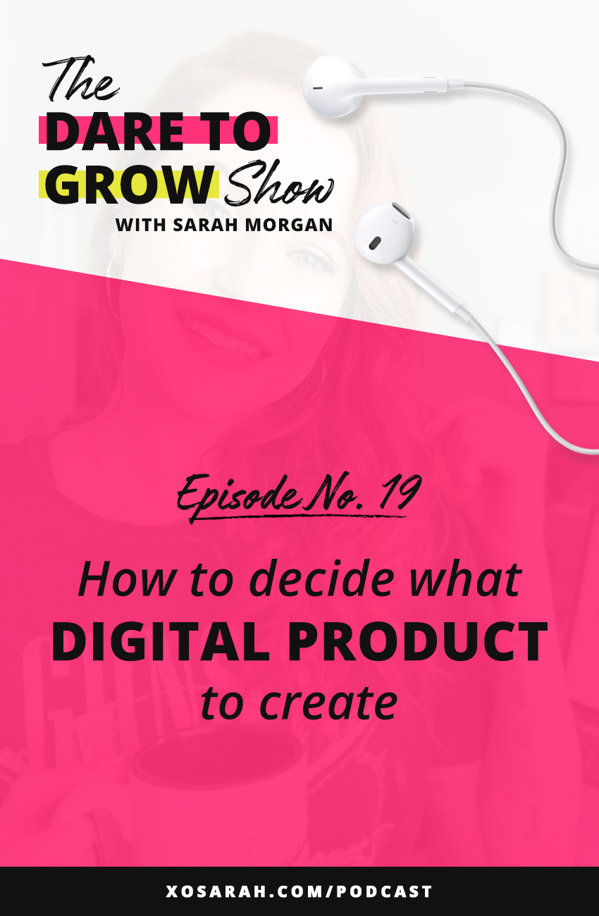 Thinking about launching a digital product? Here's how to decide what type of product (ebook, online course, templates) and what the product topic should be.