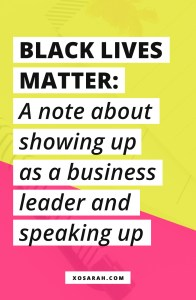 Attn Solopreneurs: Black people are spending their money with you, they are trusting you, they are supporting you. You cannot take their money, their attention, their engagement and then ignore their experience. Which is why I'm sending this massive email. It's not just about black lives, it's about how those lives intersect with our businesses and the way we show up as business owners in regards to POC in our communities.