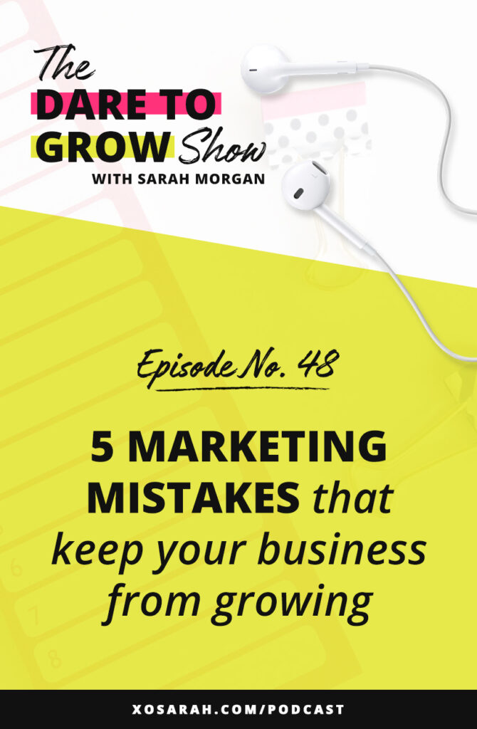Not getting the number of clients or customers you hoped for. Don't ditch your marketing strategy just yet. Whether you're on Instagram, Facebook, YouTube, hosting a podcast, or making videos on TikTok, here are 5 marketing mistakes that might be keeping your business from growing and how to fix them.