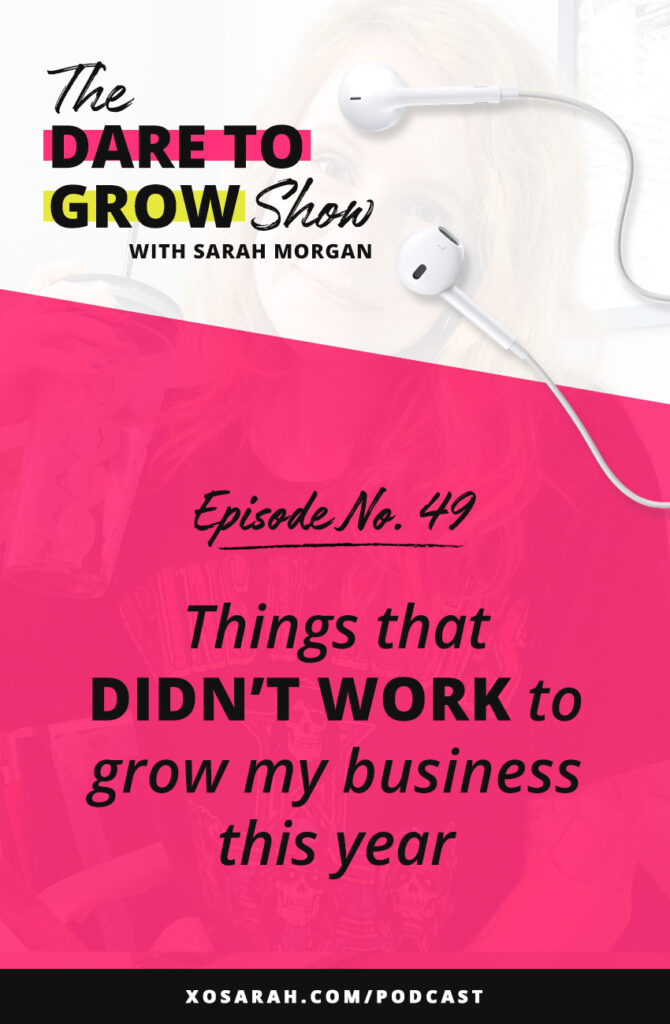 Making plans to grow your business? Here's a few things that didn't work to grow my business, creating my marketing, and show up consistently on Instagram, Stories, social media.