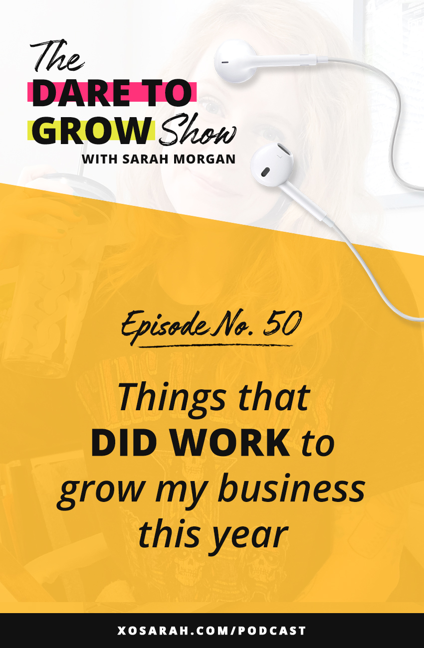 Podcasts, Instagram ads, investing in programs - here's what worked best to grow my business in 2020. I didn't change my marketing strategy but I did focus on biz tactics that grew my audience, grew my reach, and help be productive.