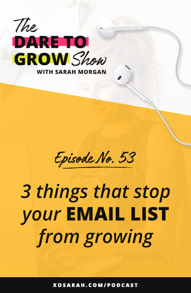 Social media is fantastic to grow your audience and warm them up, but to make double sure they're aware of your services, products, or programs, your best bet is to get them on your email list. Here are the 3 things that stop your list building strategy in your track. Fix them and you'll be growing your email list in no time!