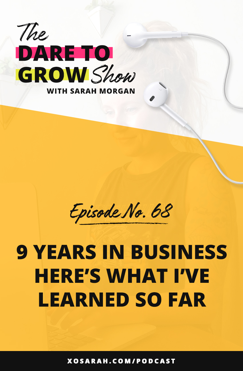 Here's what I've learned after 9 years in business working as a web designer, creating ebooks and online courses, working with clients, and thousands of students.