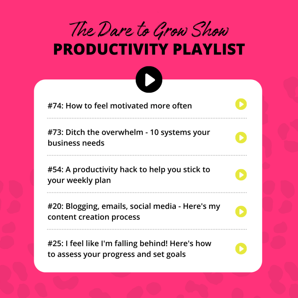 The Dare to Grow Show with Sarah Morgan Productivity Playlist