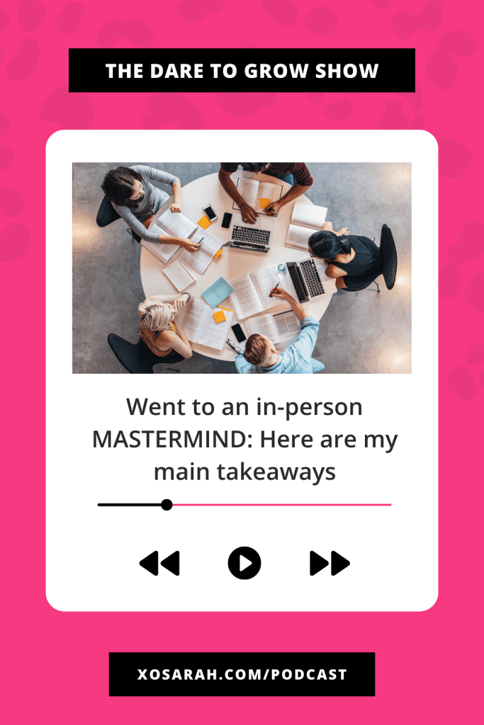 Have you ever been to a small business mastermind event?  Here are my biggest takeaways and best tips for attending a mastermind as an introvert. - XOSarah.com