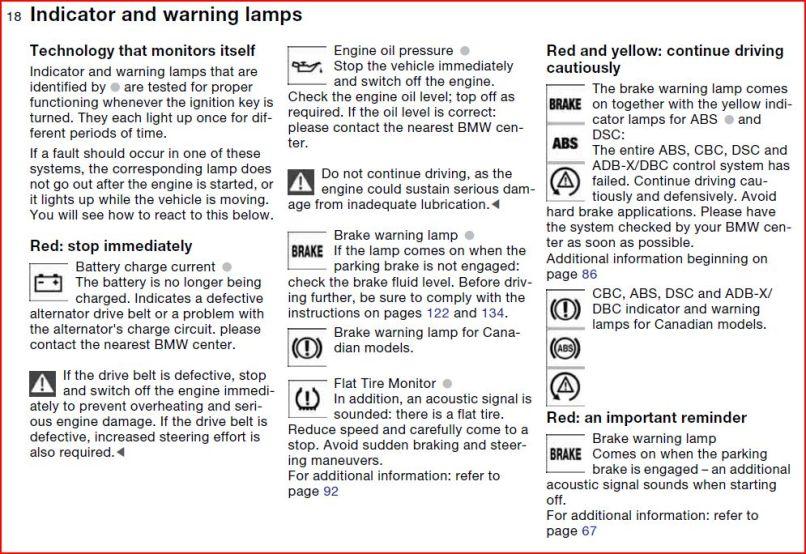 2006 Bmw 325xi Warning Lights Symbols Lightneasy