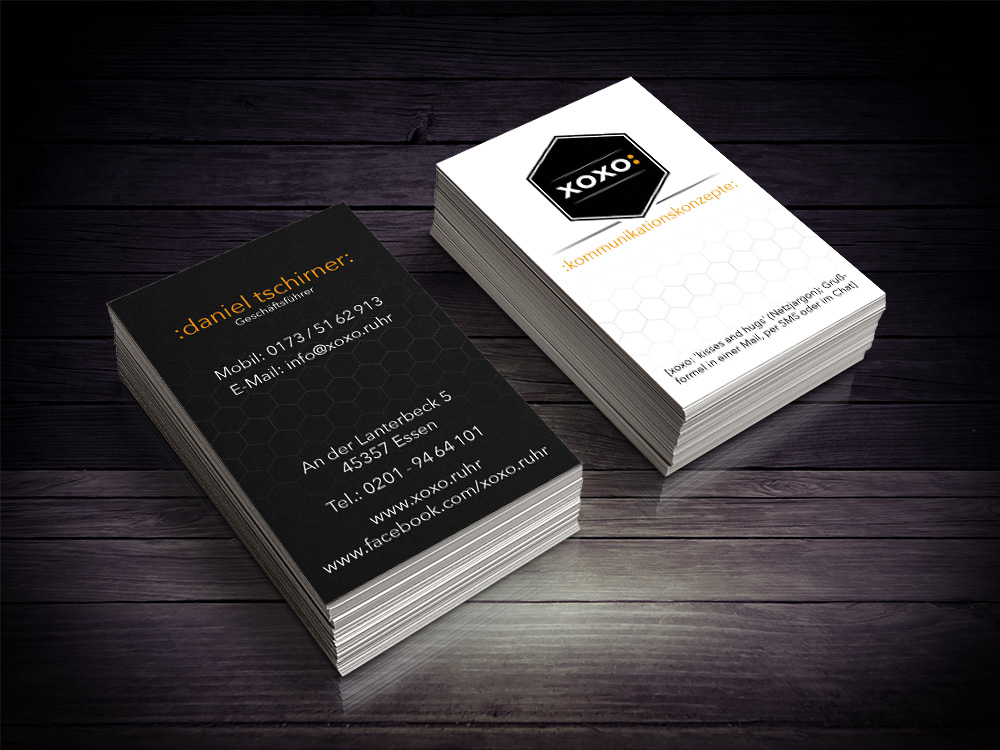 """Eine Visitenkarte ist oft das erste """"Aushängeschild"""" Ihres Unternehmens."""