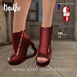 Bodhi XOXO Heart Heels http://maps.secondlife.com/secondlife/Woodland%20Park/171/101/21