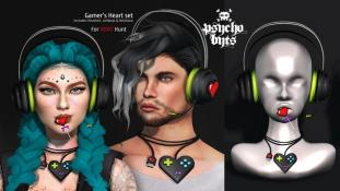 .{PSYCHO:Byts}. Gamer's Heart Set http://maps.secondlife.com/secondlife/Guillarme/152/114/51