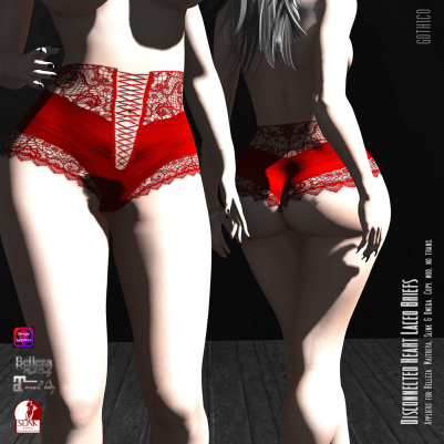 Goth1c0: Disconnected Heart Laced Briefs http://maps.secondlife.com/secondlife/Union%20Jack/191/211/1276