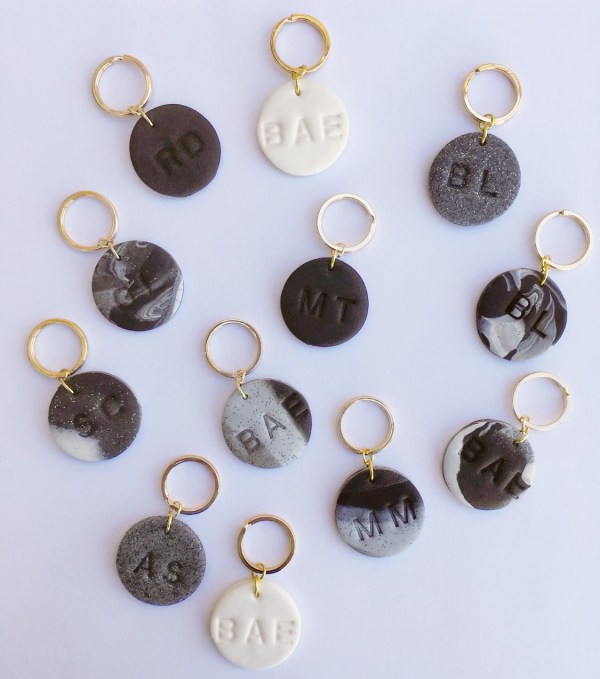 Set of Clay Keychains