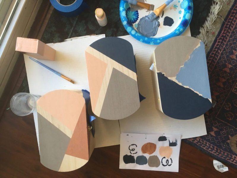 DIY: Painted Storage Boxes diy