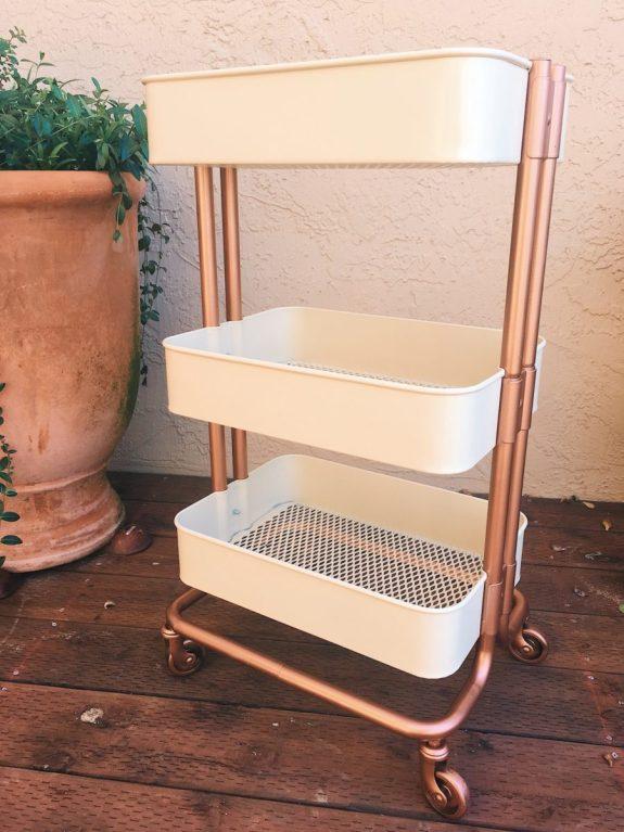 DIY Rose Gold Ikea Cart diy