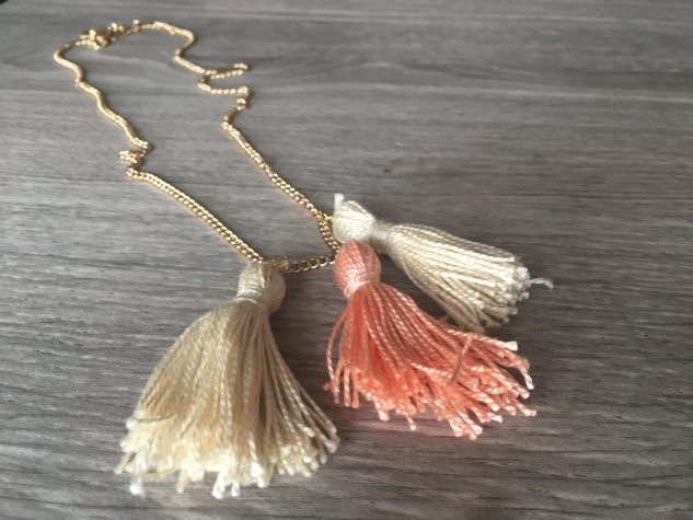 10-Minute DIY Tassel Necklace for Spring diy