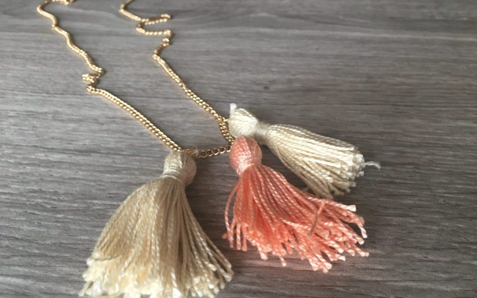 10-Minute DIY Tassel Necklace for Spring