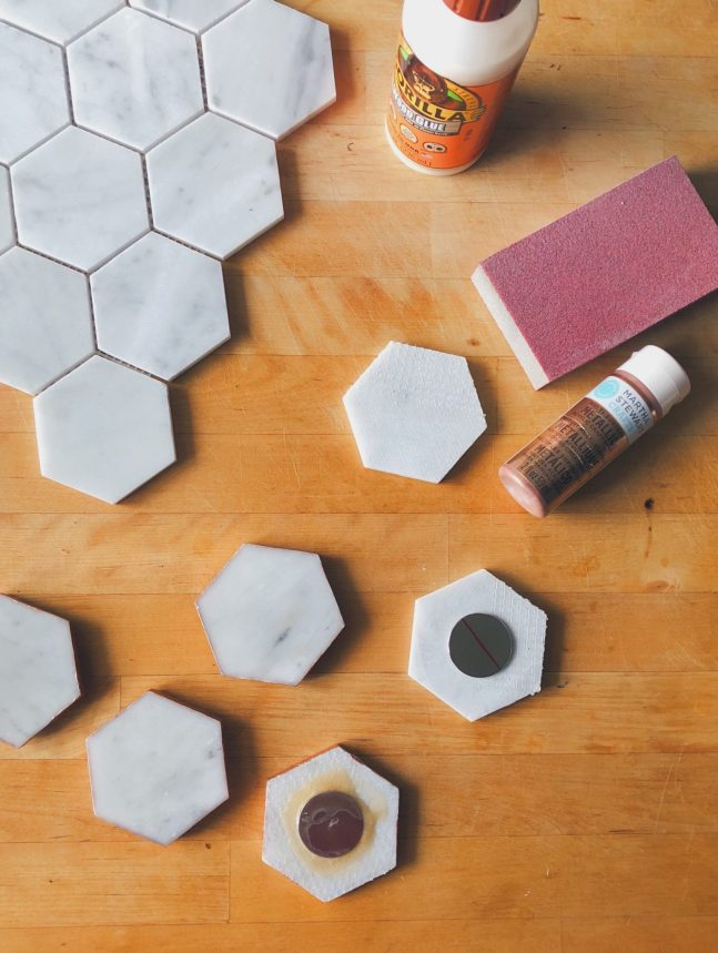 Easy DIY Carrara Marble Magnets rose-gold popular-posts diy