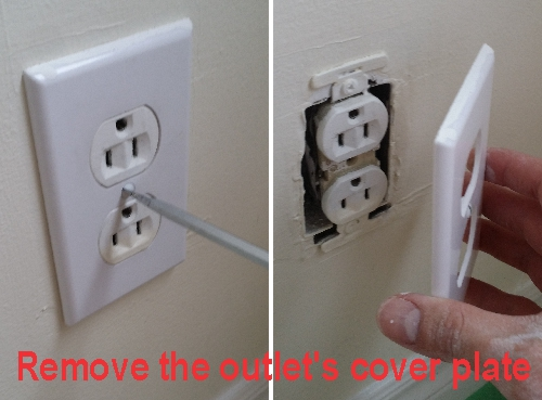 Remove the outlet's cover plate before paint the wall