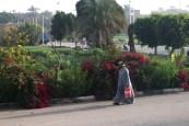 Man walking along Luxor Street