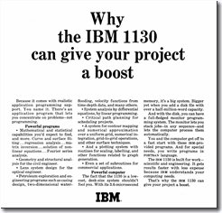 IBM 1130 Advertisement