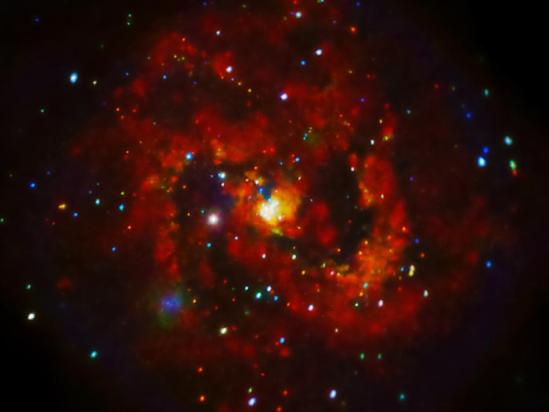 20120801XD-NASA(Chandra)- supernovaInSpiralGalaxyM83