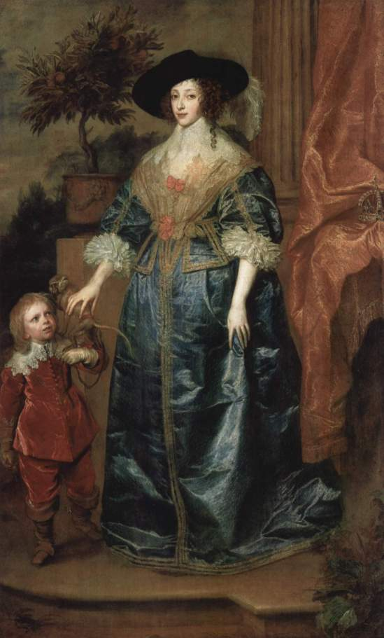 Henrietta and Dwarf by Anthony van Dyck