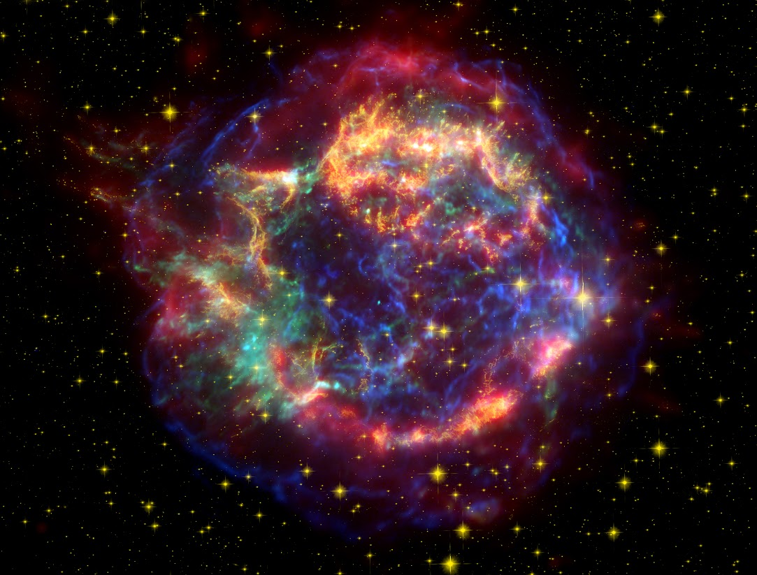 rapidly expanding supernova ejecta.