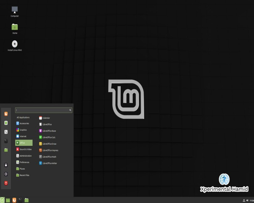 Linux Mint Cinnamon Desktop