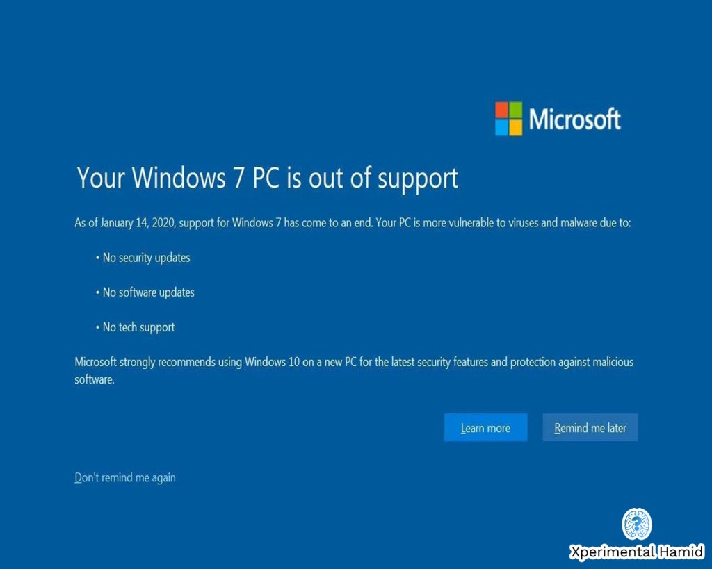 windows 7 out of support