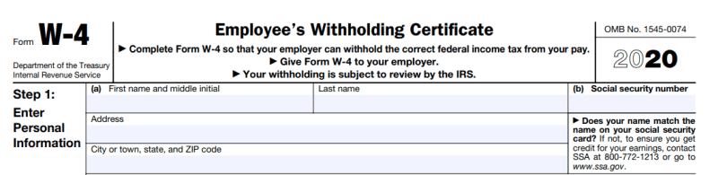 Step 1(a), 1(b) w4 form 2020